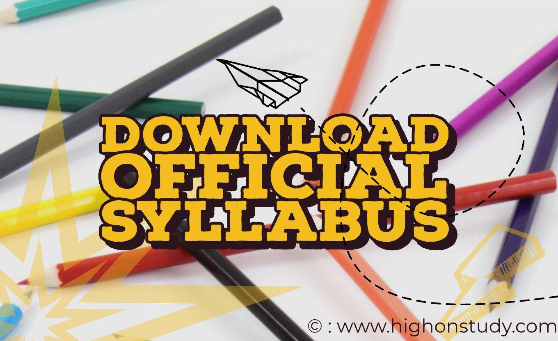 Official syllabus