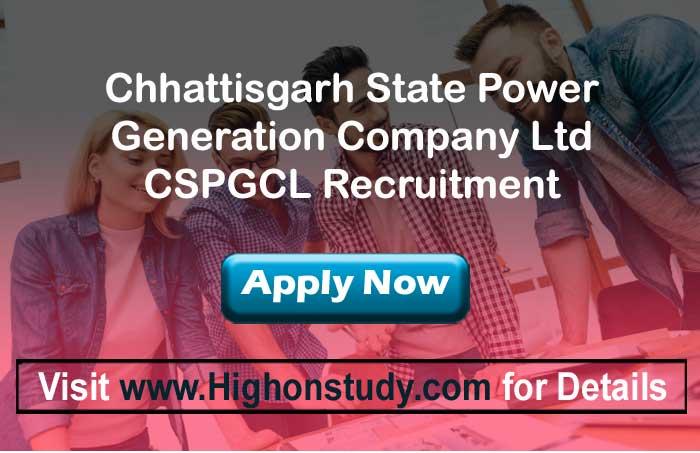 CSPGCL jobs